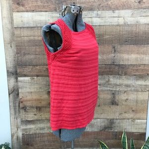 Lucky Brand Coral Red Sleeveless Knit Top